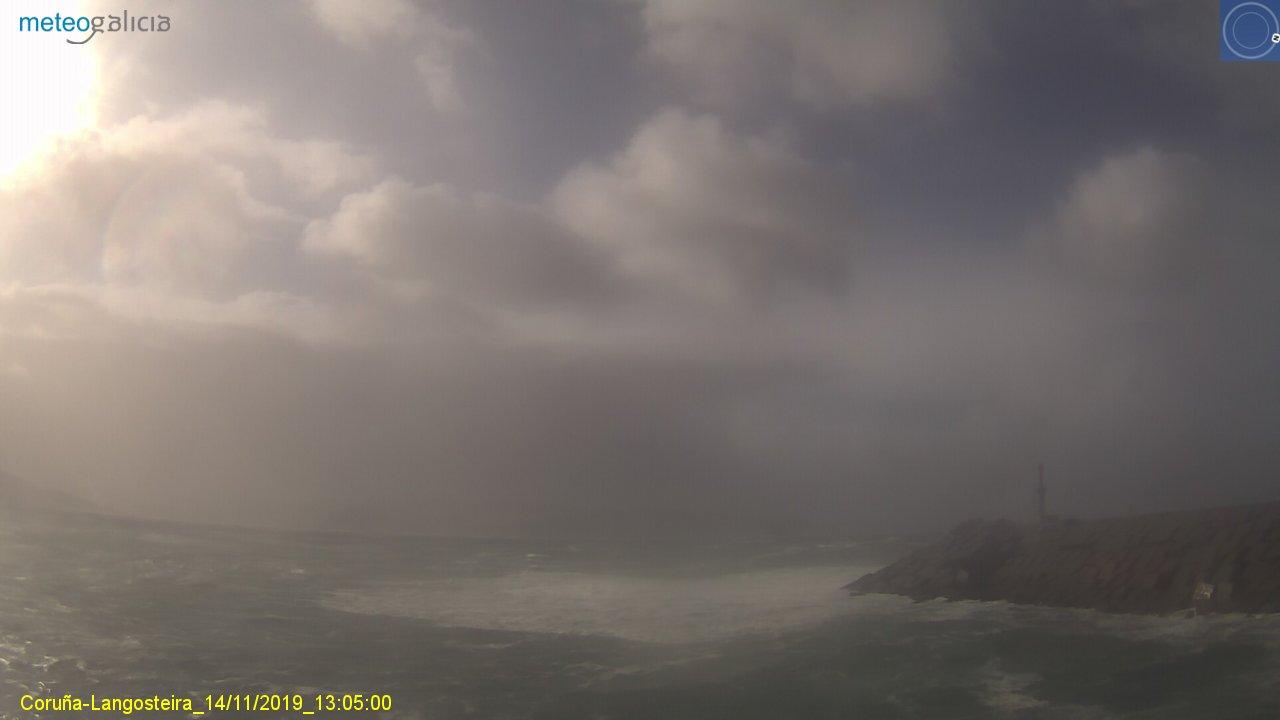 Fortes ventos do norte e ondas superiores aos 7-8 metros de altura