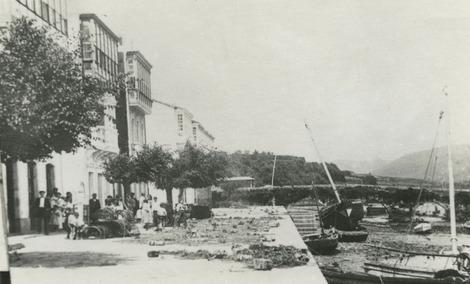 Aparellos e trincados no Malecó a comezos do s.XX